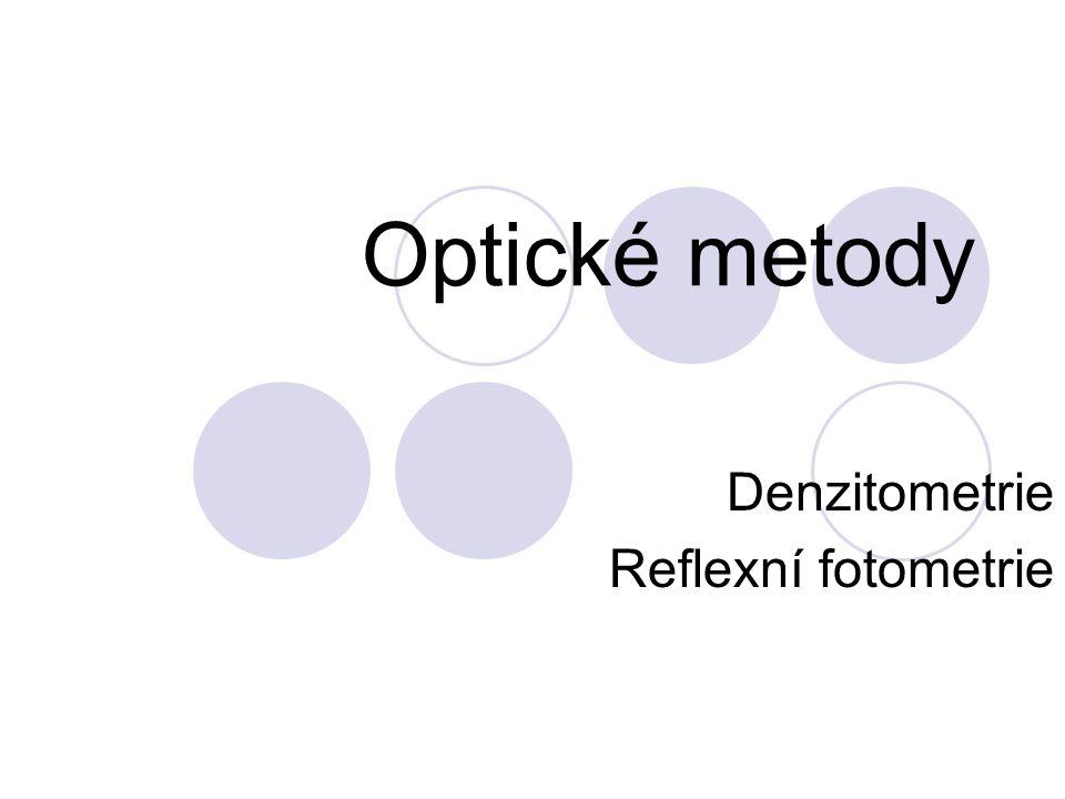Denzitometrie Reflexní fotometrie