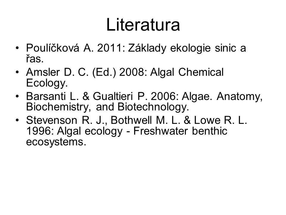 Literatura Poulíčková A. 2011: Základy ekologie sinic a řas.