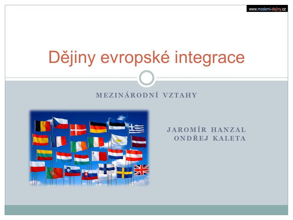 Dějiny evropské integrace