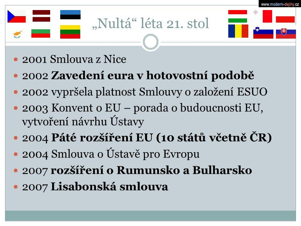 """""""Nultá léta 21. stol 2001 Smlouva z Nice"""