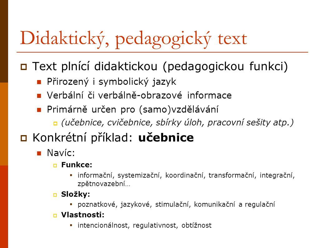 Didaktický, pedagogický text