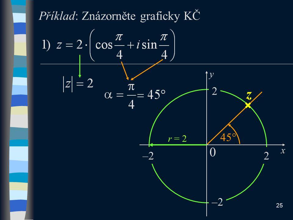 Příklad: Znázorněte graficky KČ