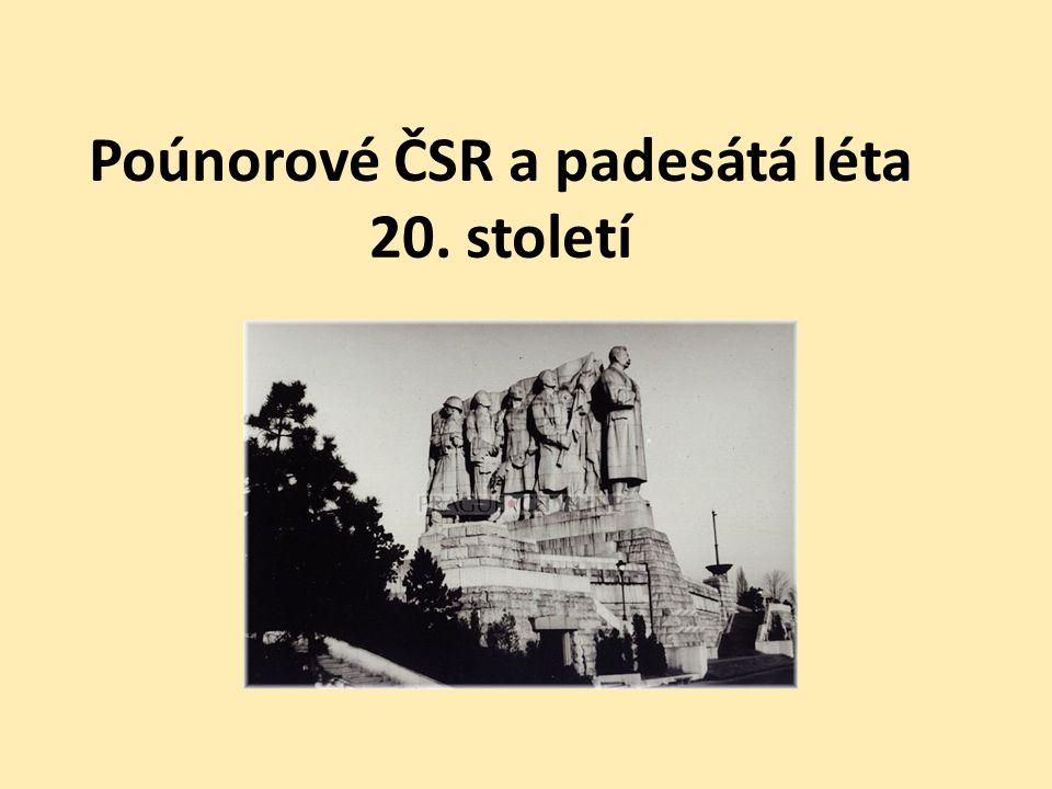 Poúnorové ČSR a padesátá léta 20. století