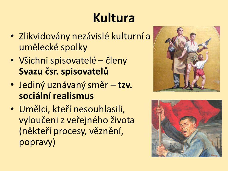 Kultura Zlikvidovány nezávislé kulturní a umělecké spolky