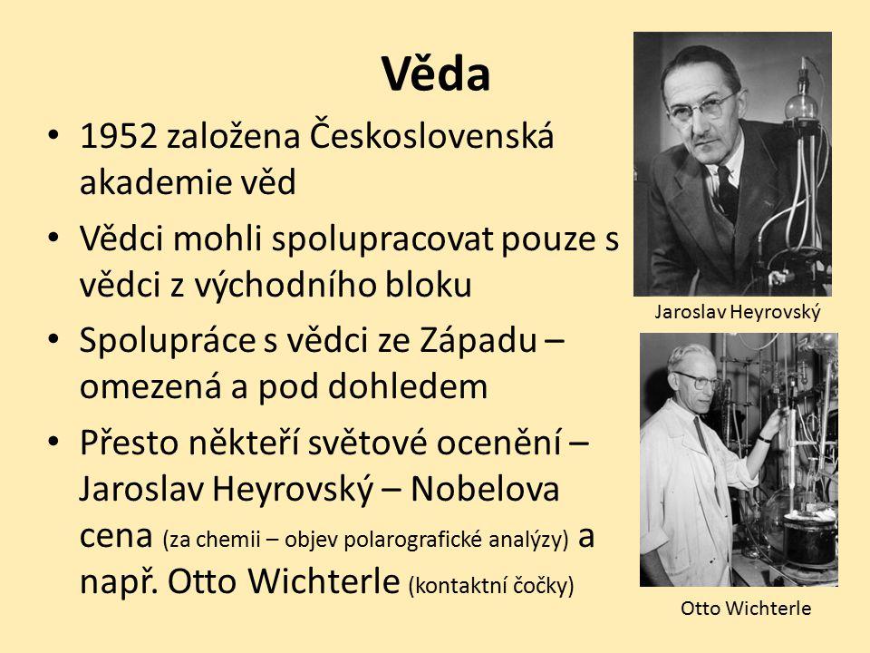Věda 1952 založena Československá akademie věd