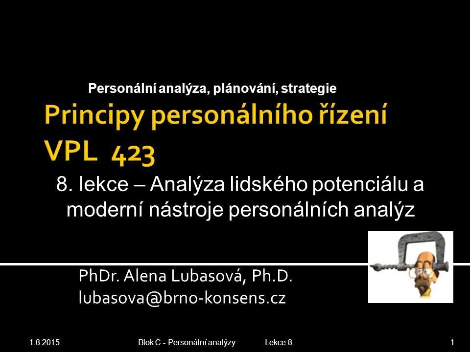 Principy personálního řízení VPL 423