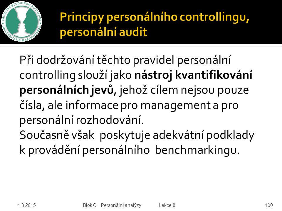 Principy personálního controllingu, personální audit