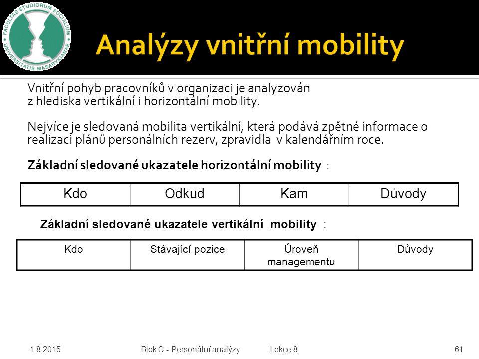Analýzy vnitřní mobility
