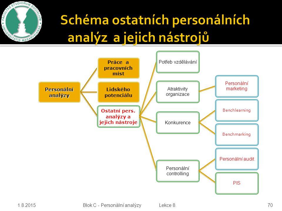 Schéma ostatních personálních analýz a jejich nástrojů