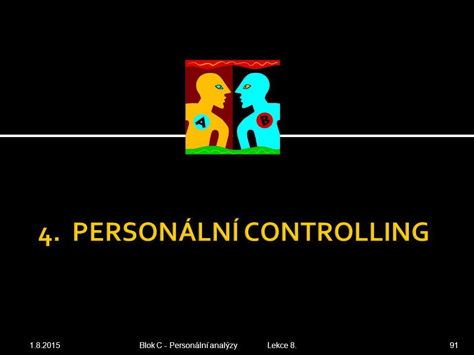 4. PERSONÁLNÍ CONTROLLING