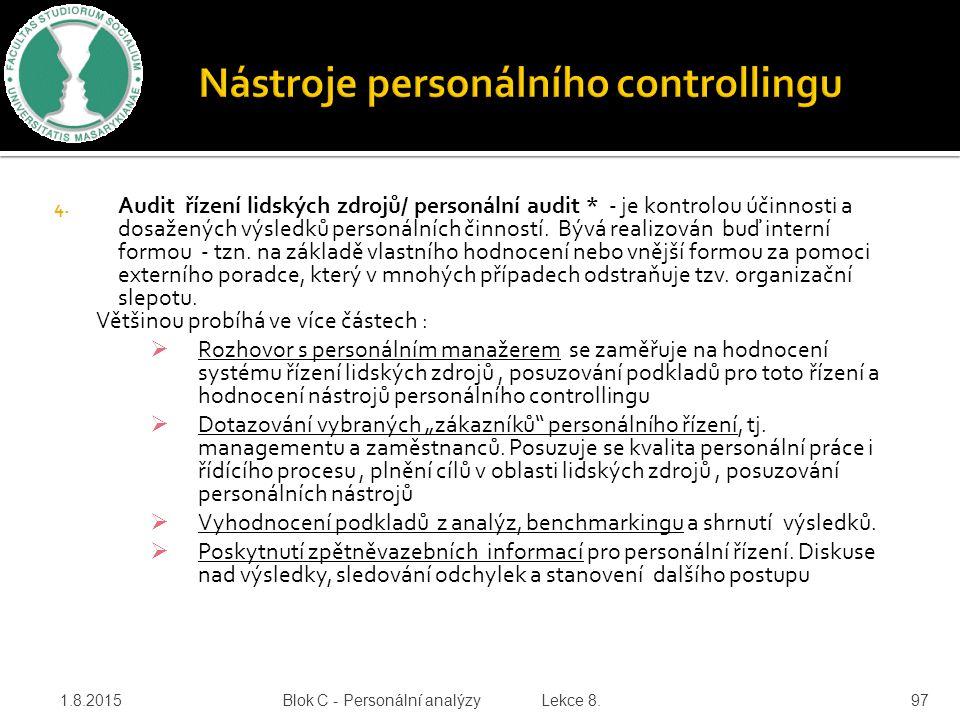 Nástroje personálního controllingu