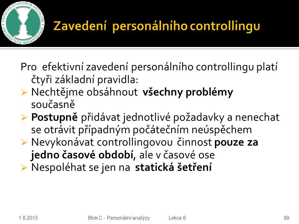 Zavedení personálního controllingu