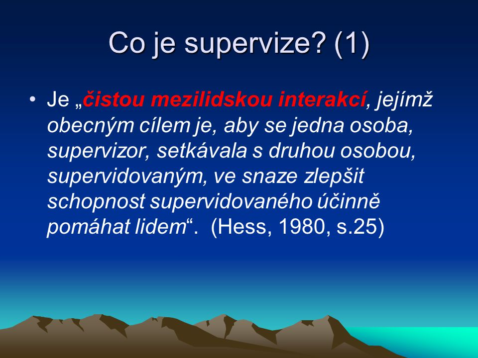 Co je supervize (1)