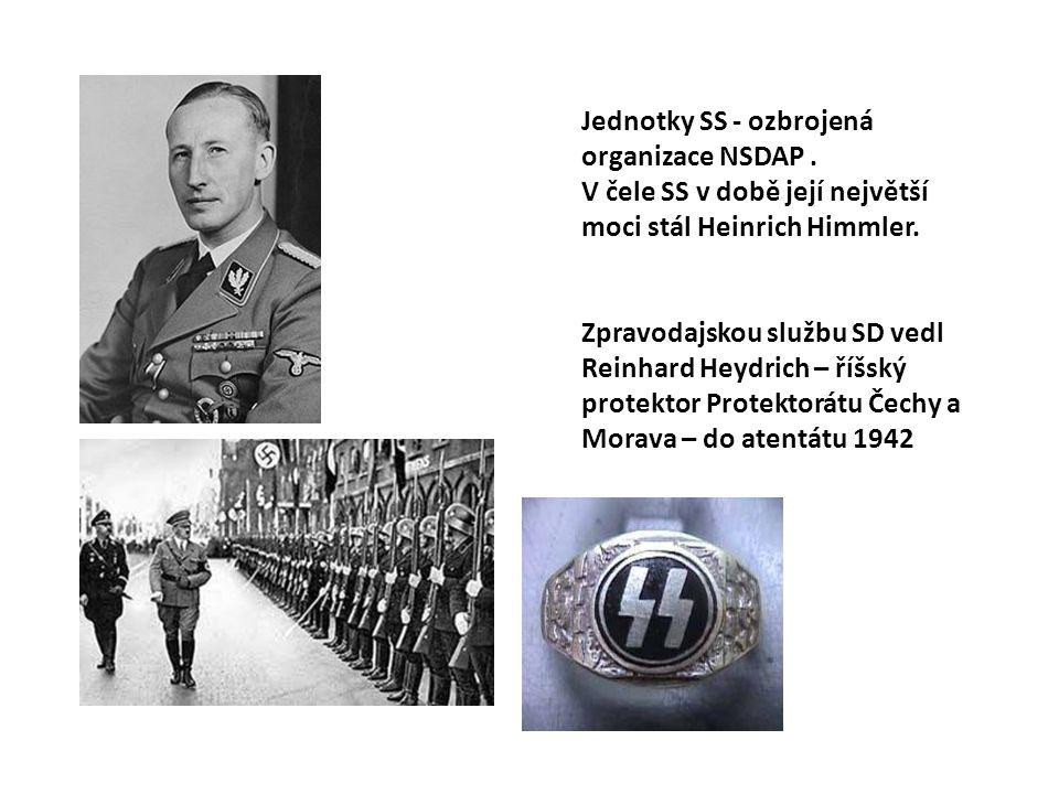 Jednotky SS - ozbrojená organizace NSDAP .
