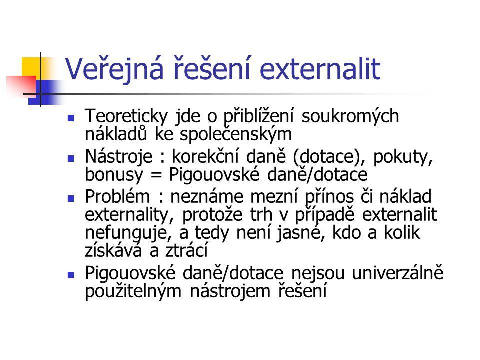 Veřejná řešení externalit