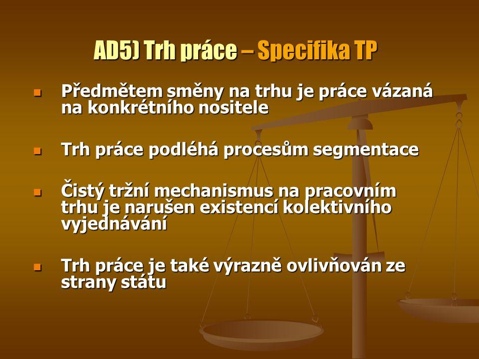 AD5) Trh práce – Specifika TP