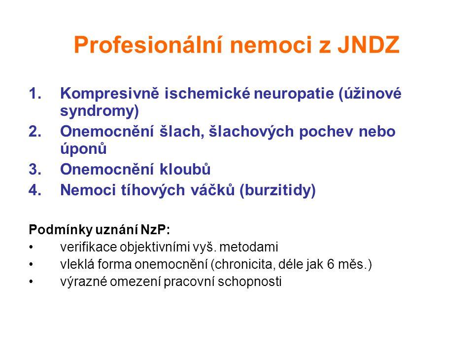 Profesionální nemoci z JNDZ