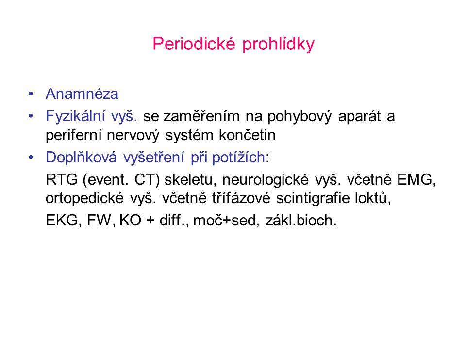 Periodické prohlídky Anamnéza