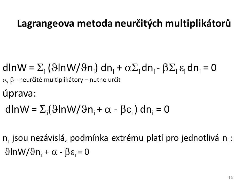 Lagrangeova metoda neurčitých multiplikátorů