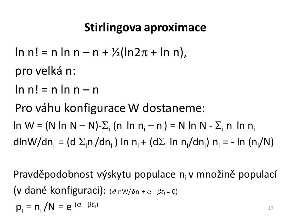 Stirlingova aproximace