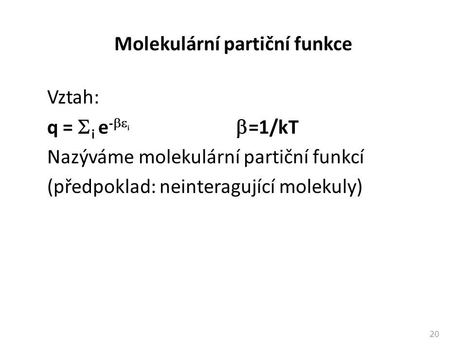 Molekulární partiční funkce