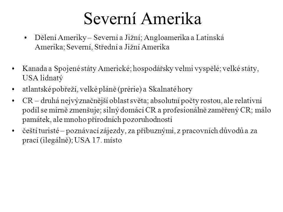 Severní Amerika Dělení Ameriky – Severní a Jižní; Angloamerika a Latinská Amerika; Severní, Střední a Jižní Amerika.