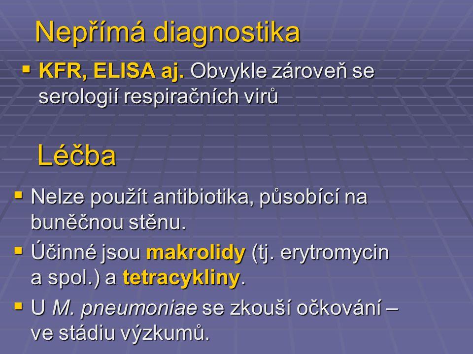 Nepřímá diagnostika Léčba