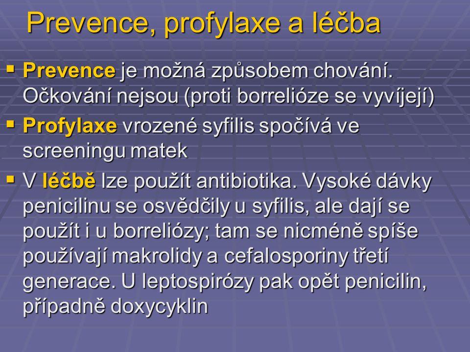 Prevence, profylaxe a léčba