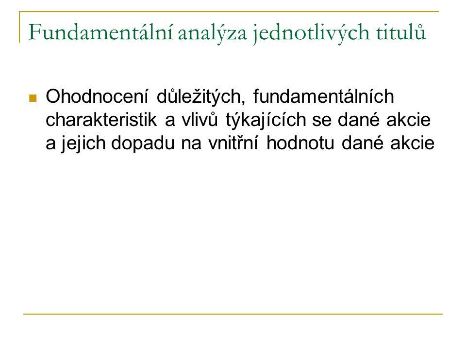 Fundamentální analýza jednotlivých titulů