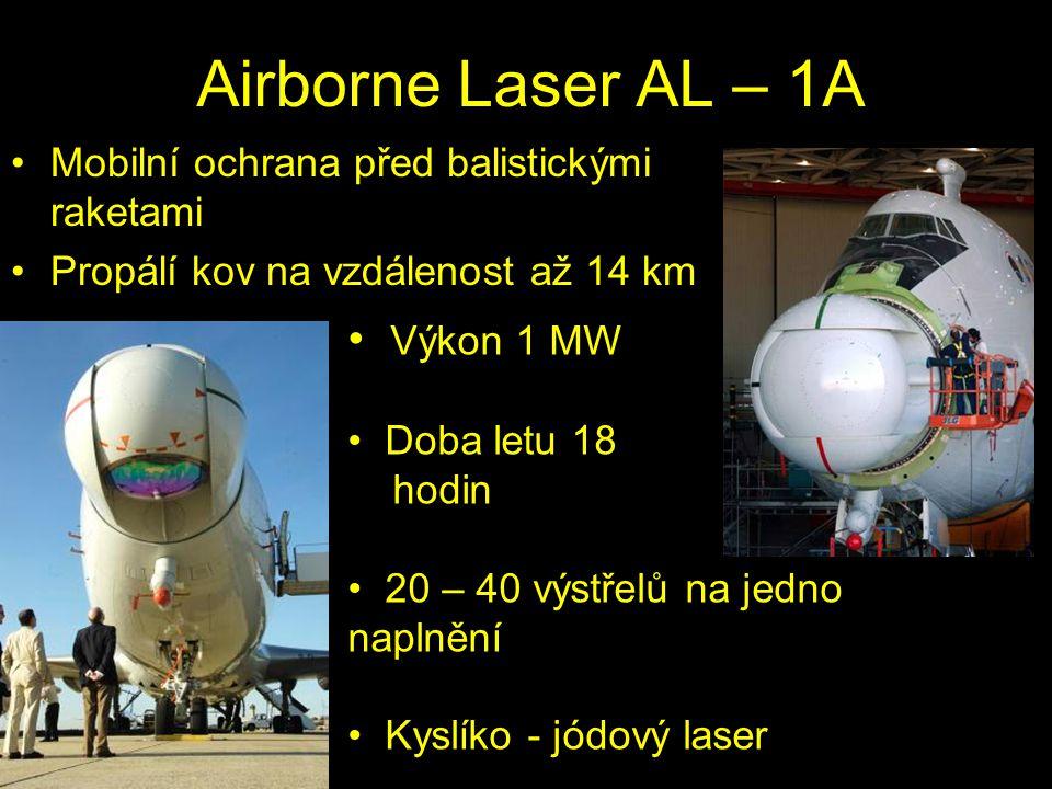 Airborne Laser AL – 1A Výkon 1 MW