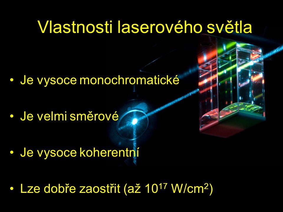Vlastnosti laserového světla