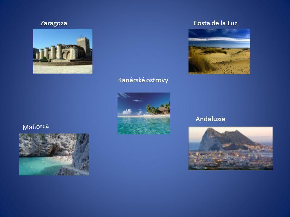 Zaragoza Costa de la Luz Kanárské ostrovy Andalusie Mallorca