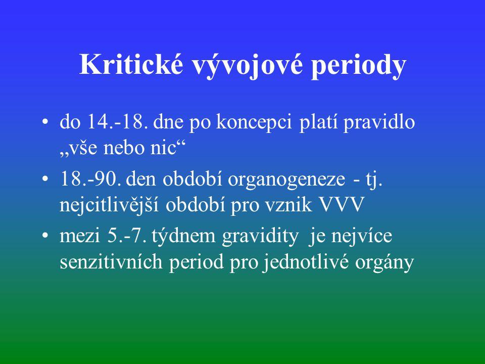Kritické vývojové periody