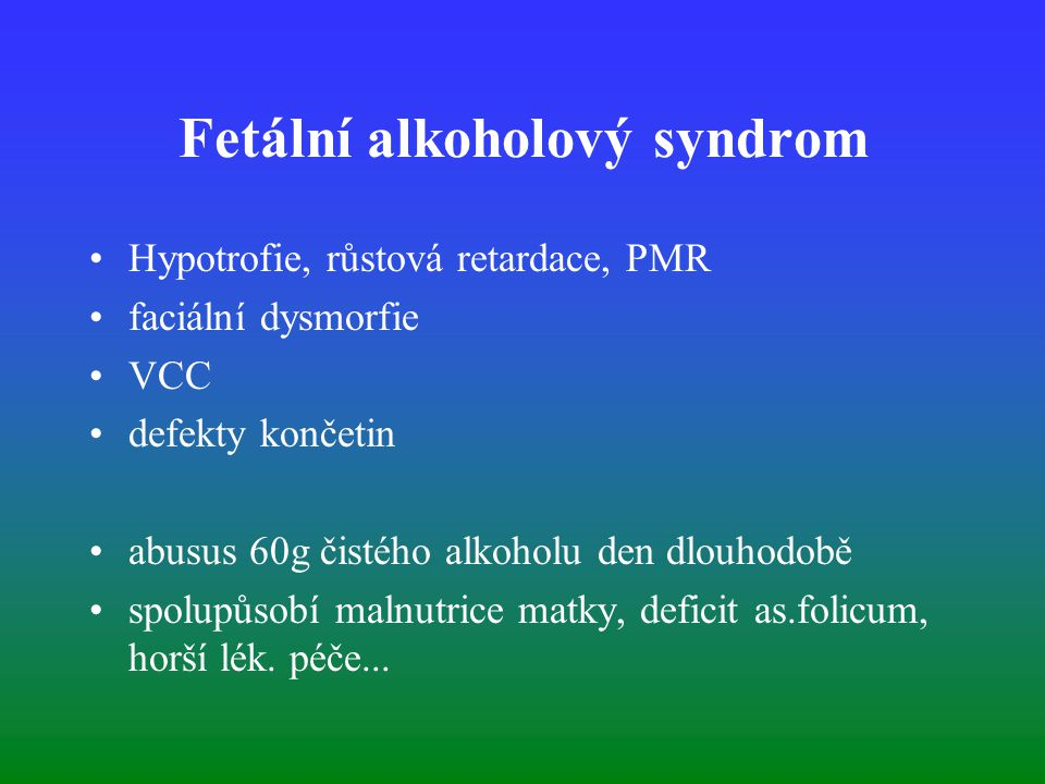 Fetální alkoholový syndrom