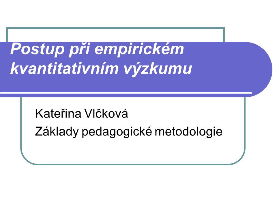 Postup při empirickém kvantitativním výzkumu