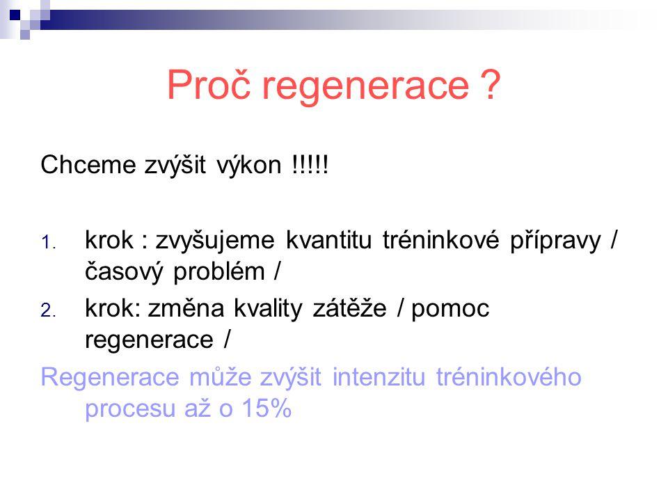 Proč regenerace Chceme zvýšit výkon !!!!!