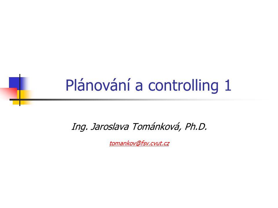 Plánování a controlling 1