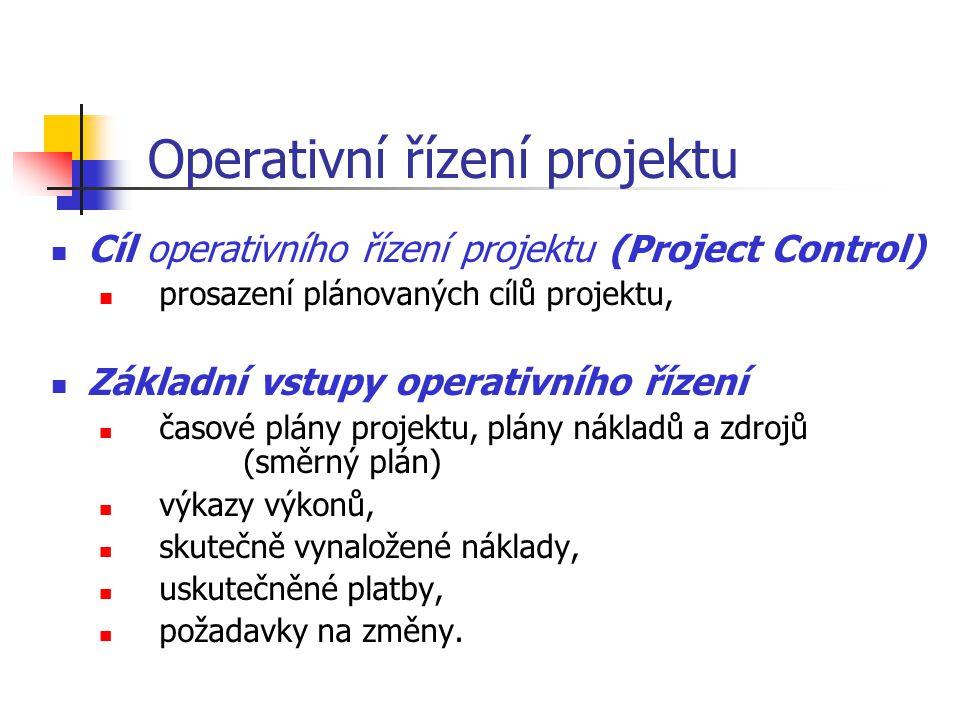 Operativní řízení projektu