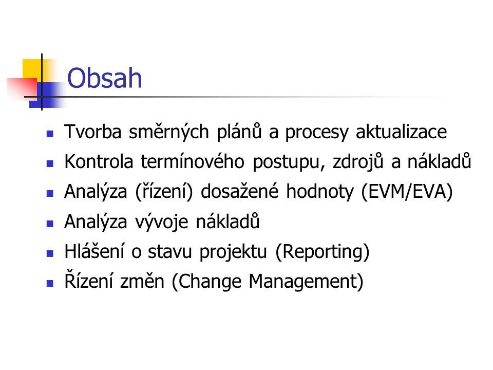 Obsah Tvorba směrných plánů a procesy aktualizace