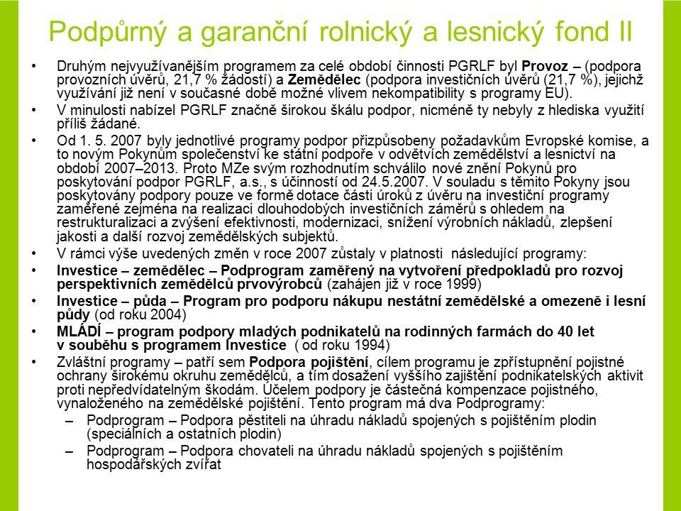 Podpůrný a garanční rolnický a lesnický fond II