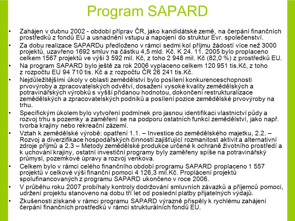 Program SAPARD