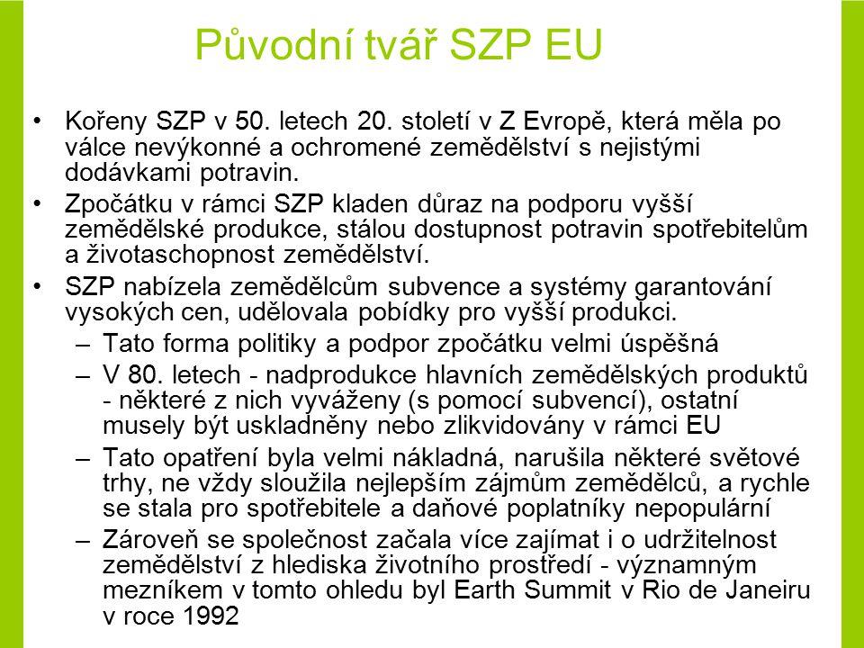 Původní tvář SZP EU