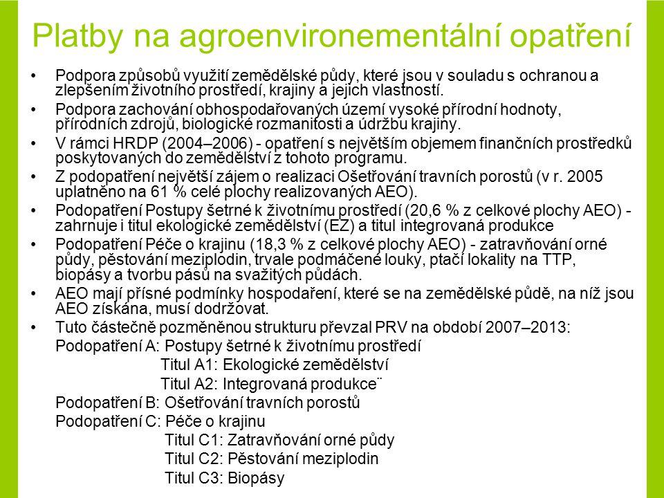 Platby na agroenvironementální opatření