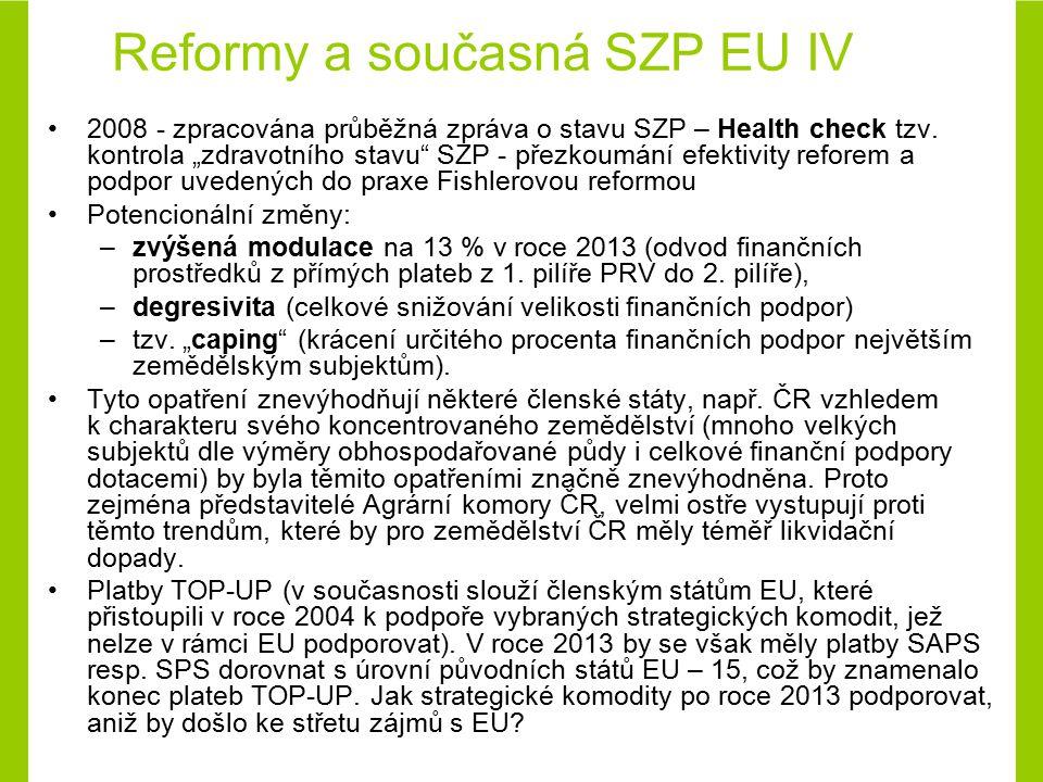 Reformy a současná SZP EU IV