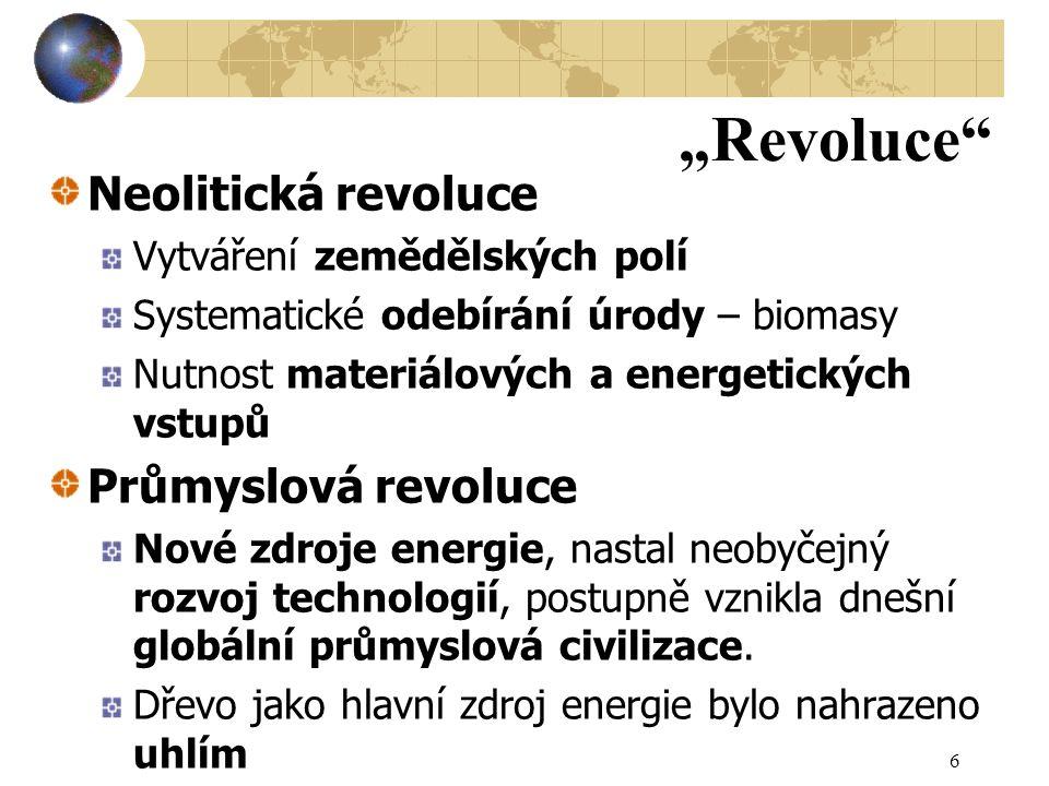 """""""Revoluce Neolitická revoluce Průmyslová revoluce"""