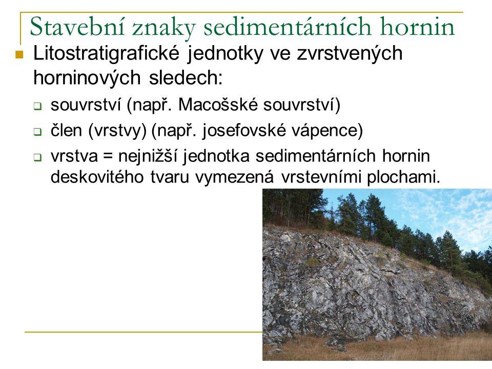 Stavební znaky sedimentárních hornin
