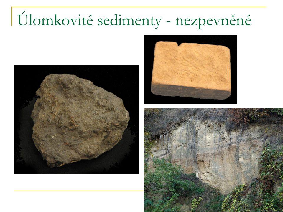 Úlomkovité sedimenty - nezpevněné