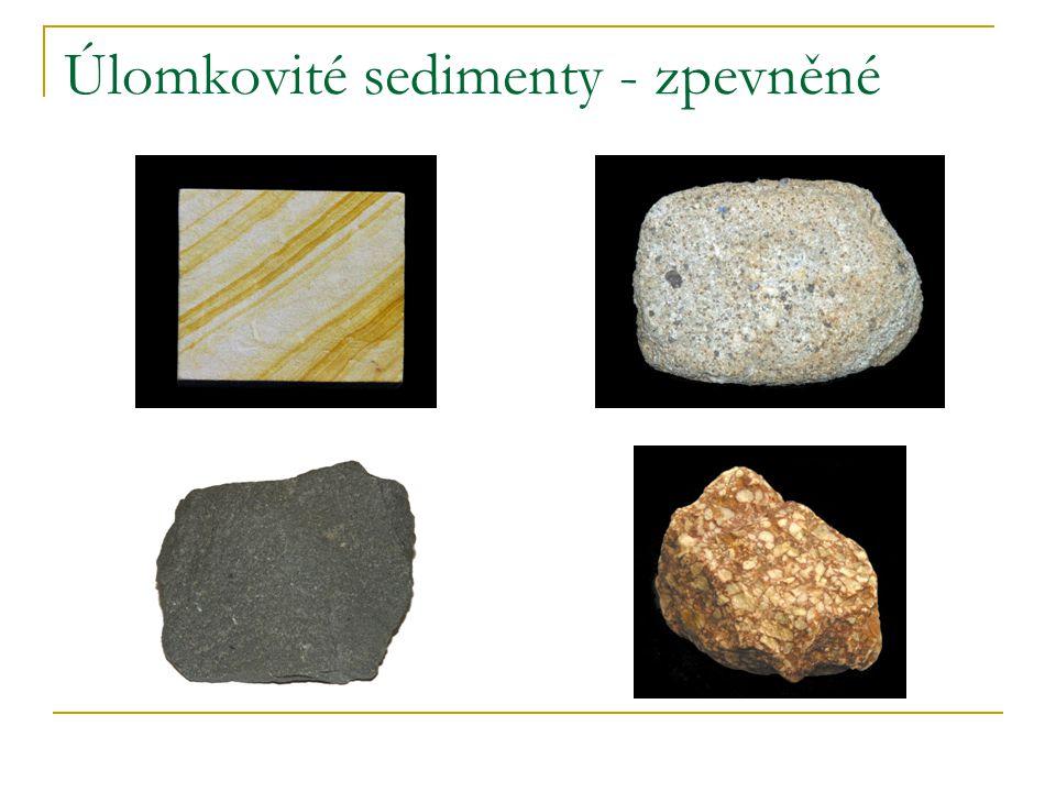 Úlomkovité sedimenty - zpevněné