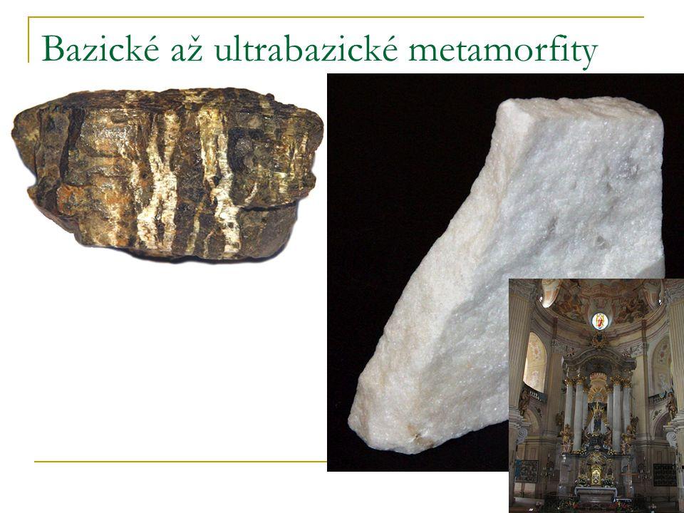 Bazické až ultrabazické metamorfity