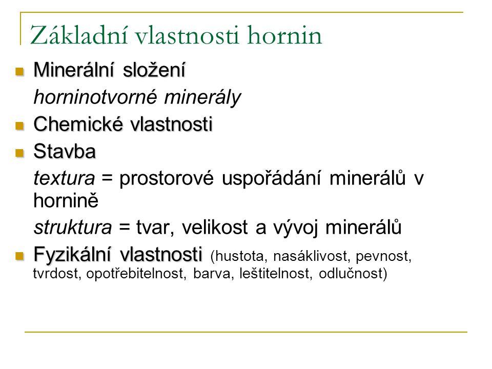 Základní vlastnosti hornin